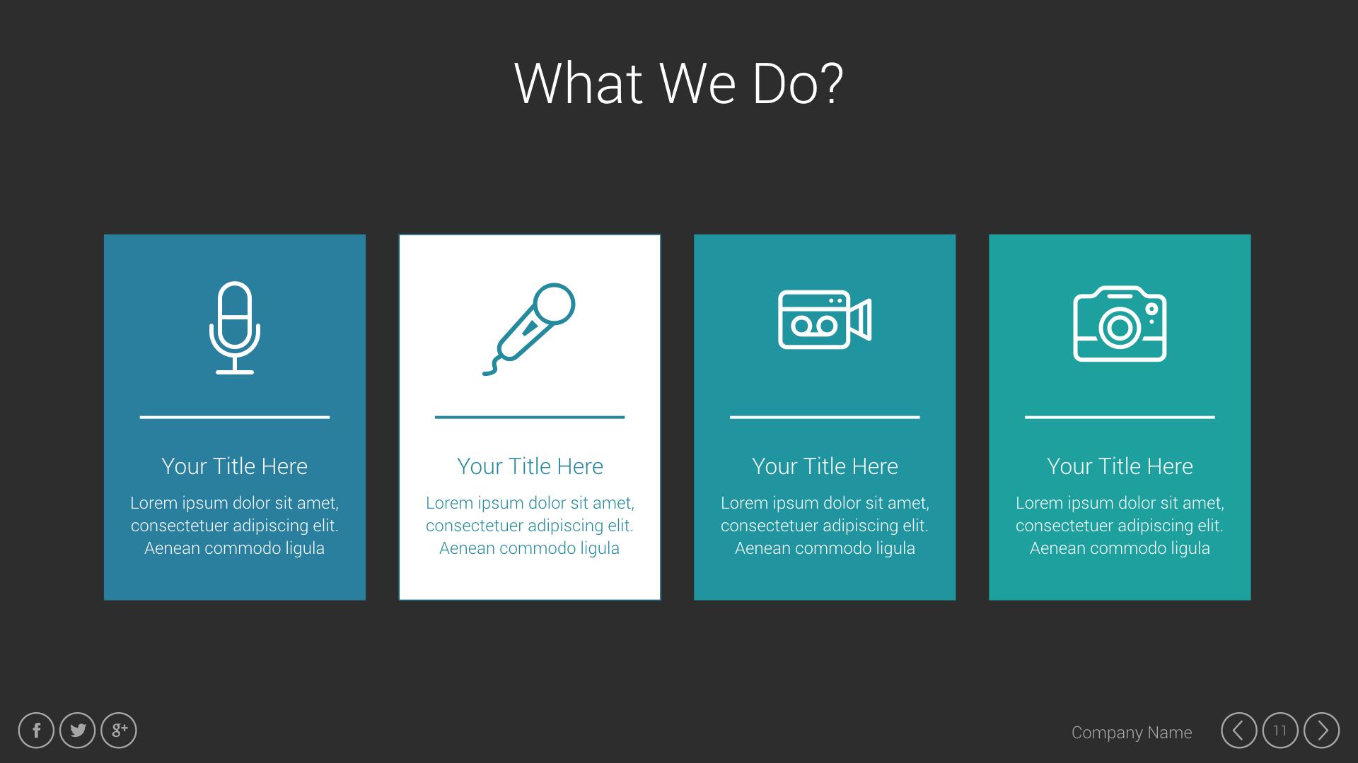 Business presentation keynote