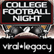 College Football Night Promo Flyer