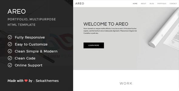 Areo - Responsive Multipurpose HTML Template