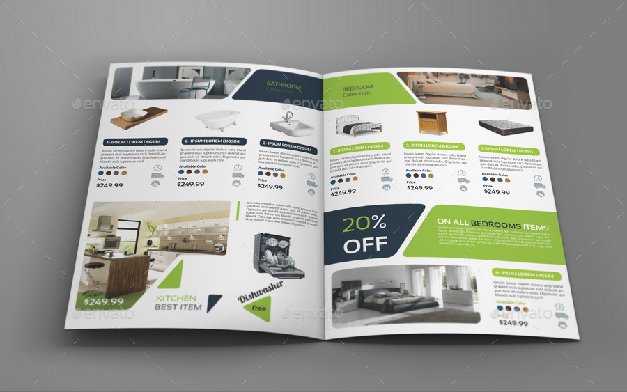 Products Catalogs BiFold Brochure Template Vol2 by OWPictures – Product Brochure Template