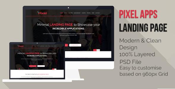 App Landing Page PSD
