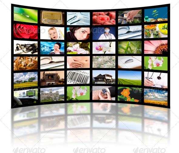 PhotoDune Television production concept TV movie panels 1768235