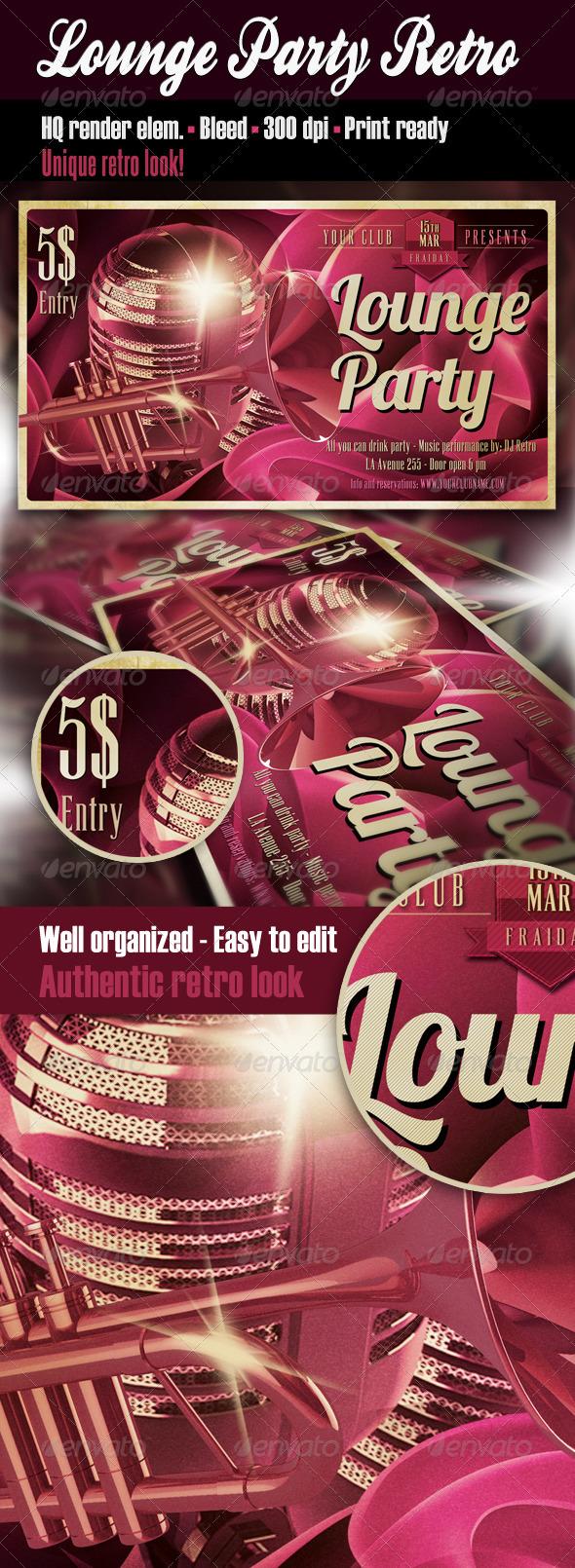 Lounge Party Retro Flyer