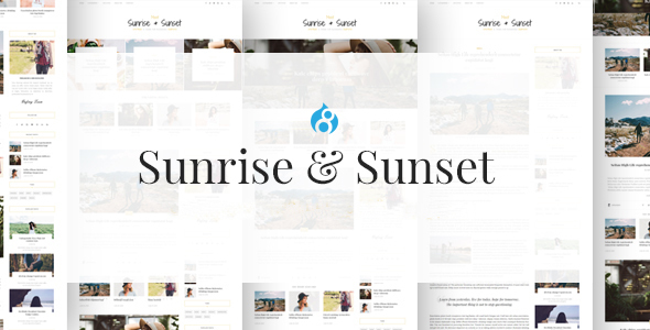 Sunrise & Sunset - Personal & Magazine Drupal 8 Theme