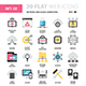Network and Cloud Computing Flat Web Icons