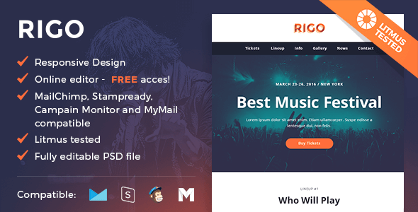 Rigo - Responsive Email and Newsletter Template