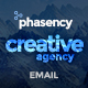 Phasency Creative Agency E-Newsletter PSD Template