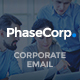 PhaseCorp - Corporate E-Newsletter PSD Template