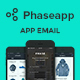 PhaseApp Mobile App E-Newsletter PSD Template