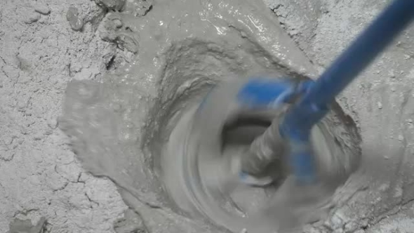 Download The Process Of Preparing The Construction Of The Putty Dry Mix And Water. nulled download