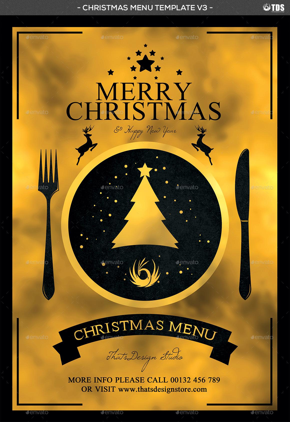 christmas menu template v3 by lou606 graphicriver menu template v3 jpg