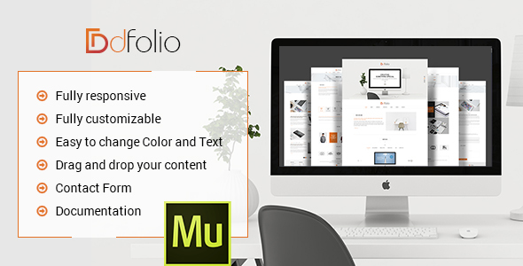 dFolio - Multi Purpose Muse Template