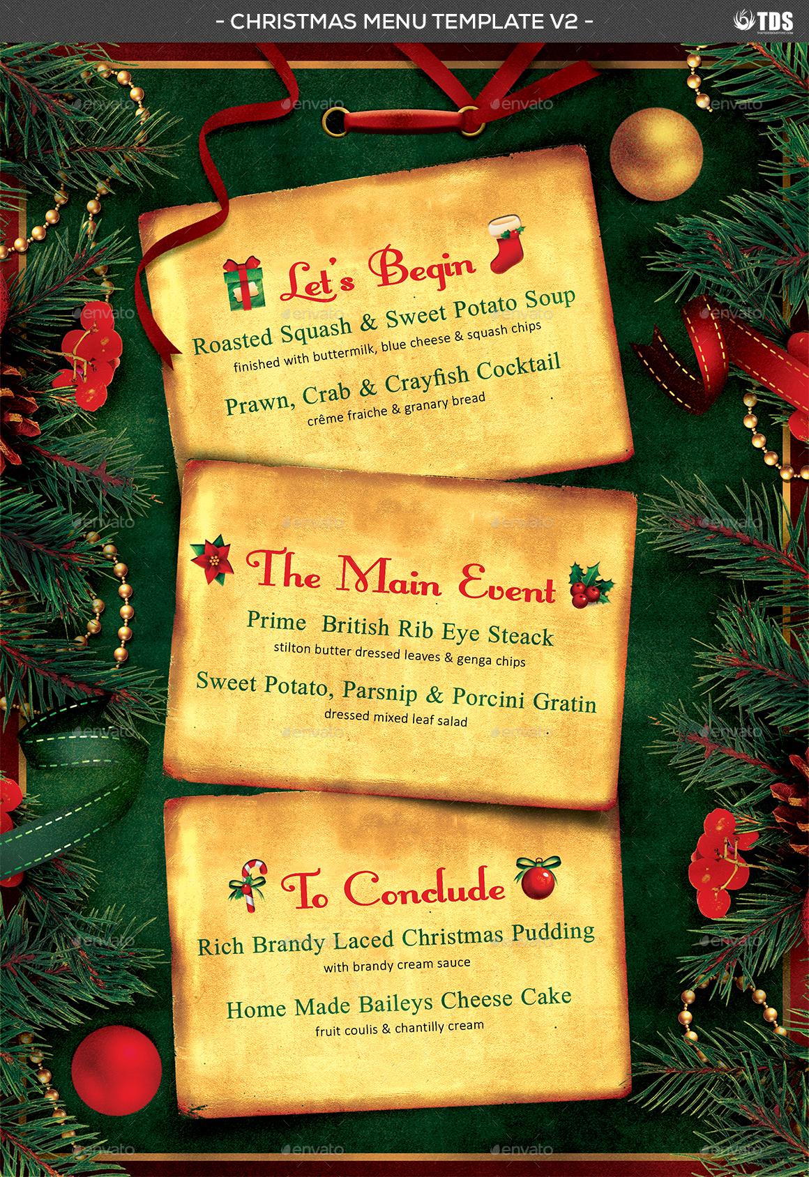 christmas menu template v2 by lou606 graphicriver menu template v2 jpg