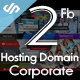 2 Facebook Cover Hosting and Red Corporate