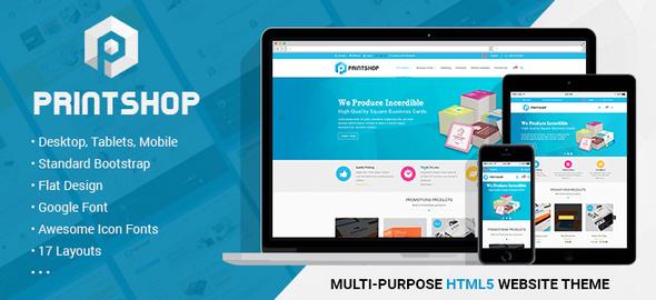 Printshop - Responsive HTML Printing Template