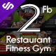 2 Facebook Cover Restaurant Food and Fitness Gym