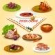 Polish Cuisine Rustic Dinner with Dessert Icon