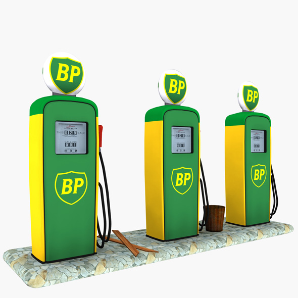 Gas Pump BP - 3DOcean Item for Sale