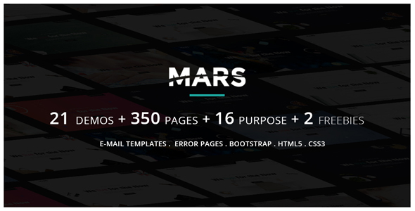 Mars | Multipurpose Parallax Responsive Coming Soon and Under Construction Template