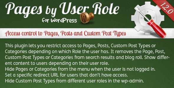 CodeCanyon Pages by User Role for WordPress 136020