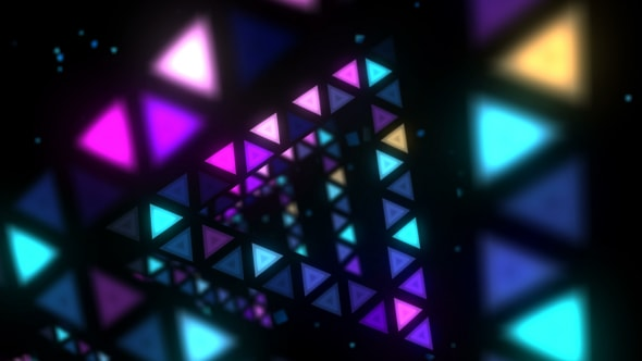 VideoHive Triangles Disco Tunnel VJ Loop 17811506