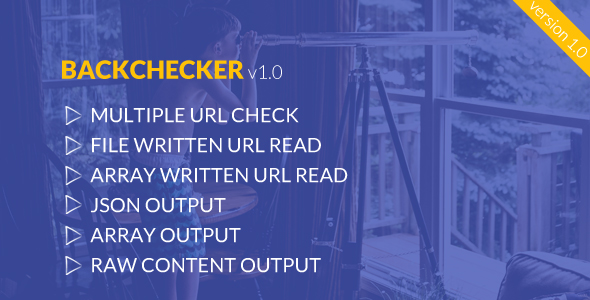 BackChecker - Backlink Monitoring Library