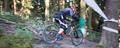 downhill mountainbiker