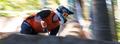 downhill mountainbiker speed blur