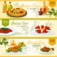 Italian Cuisine Banners for Restaurant Design
