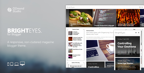 BrightEyes: A Non-Cluttered, Responsive Magazine Theme for Blogger