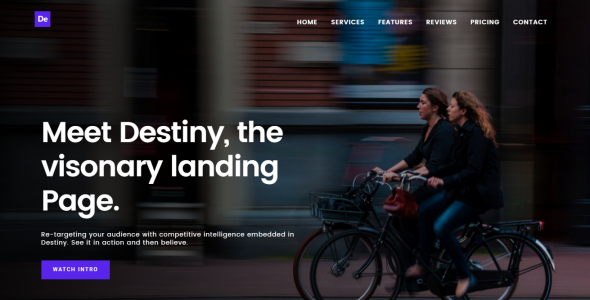 Image of Destiny Multipurpose HTML Landing Page Template