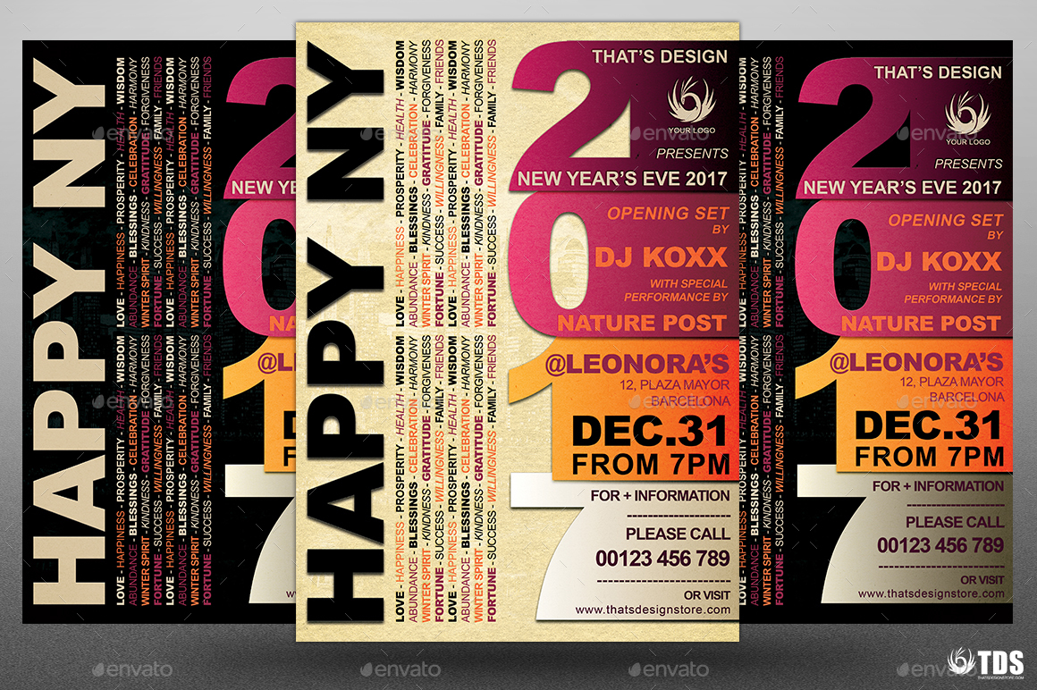 New Year Flyer Template V3 by lou606 – Harmony Flyer Template