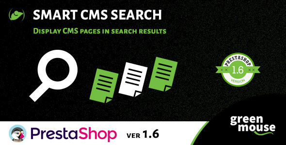 Prestashop Smart CMS Search