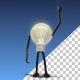 Bulb Character Gets Idea