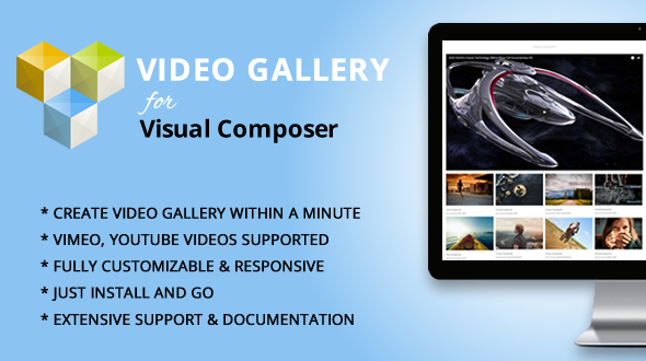 Elegant Mega Addons for Visual Composer Video Gallery Module