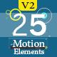 25 Motion Graphic Element Pack V2