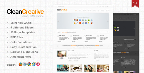 Clean Creative: Clean, Minimal Website Template