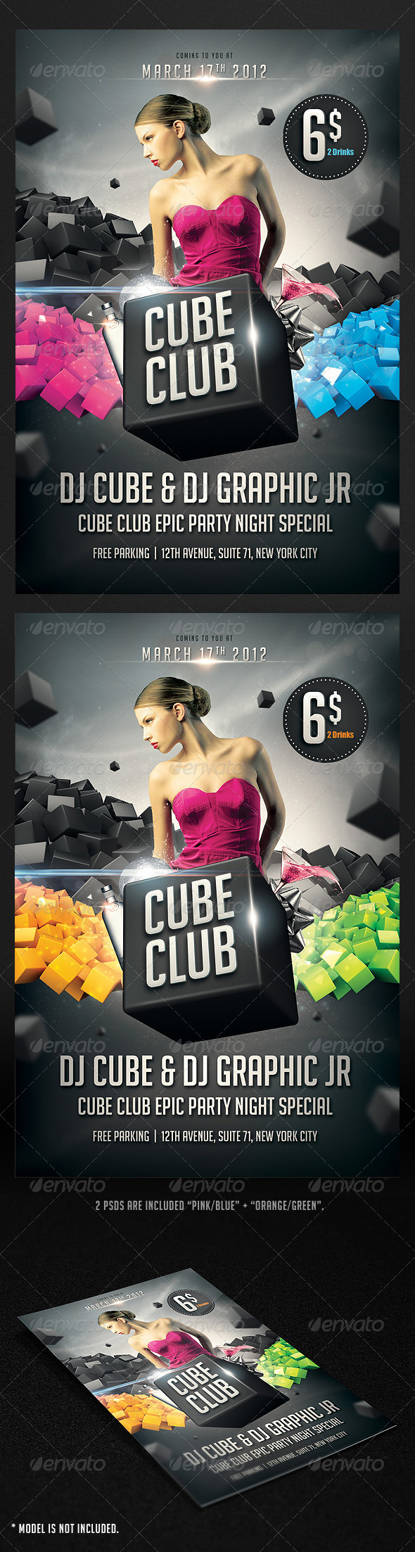 Graphic River Cube Club Flyer Print Templates -  Flyers 1747762