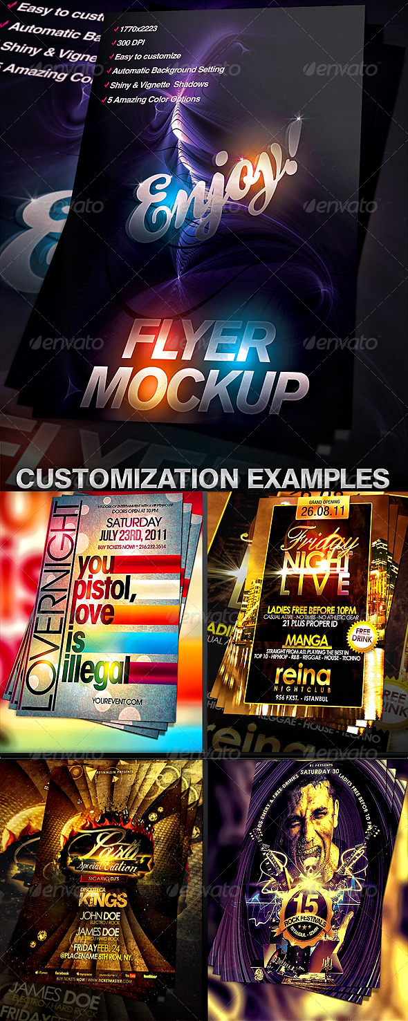 Flyer Mock-up Template