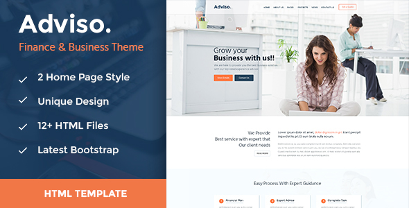 Adviso - Finance, Consulting, Business HTML Template