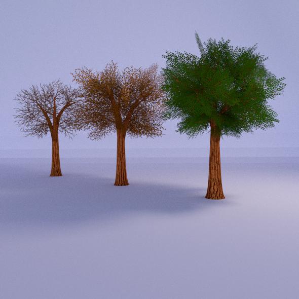 3DOcean Lowpoly Tree 3 Seasons 1770904