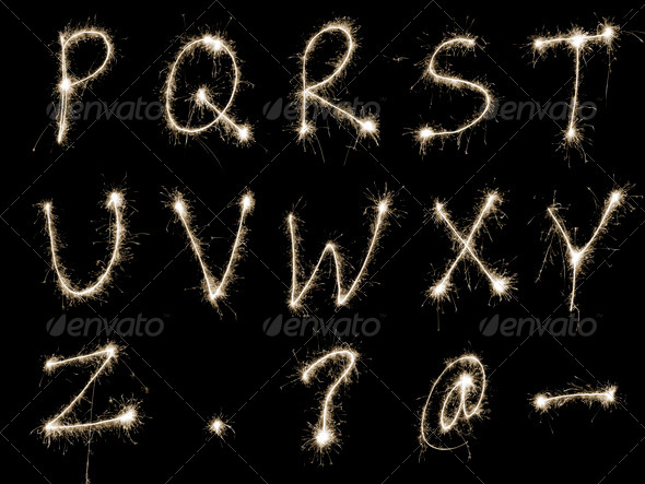 Sparking Alphabet RtoZ - Stock Photo - Images