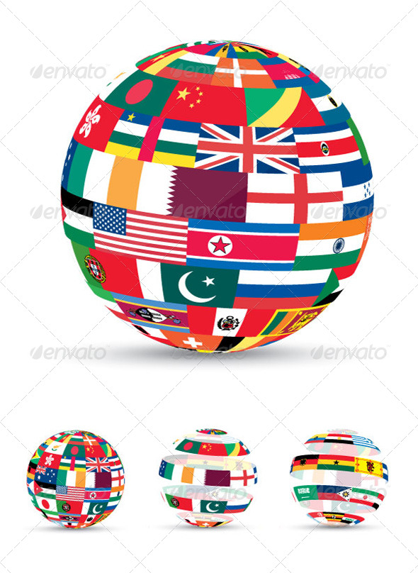 GraphicRiver 3D Flag World 208410