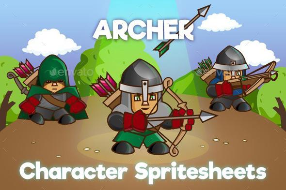 2D Archer Character Sprites (Sprites)