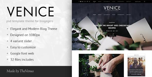 Venice   HTML Responsive Blog Template
