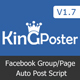 King poster | Facebook multi Group / Page auto post - PHP script