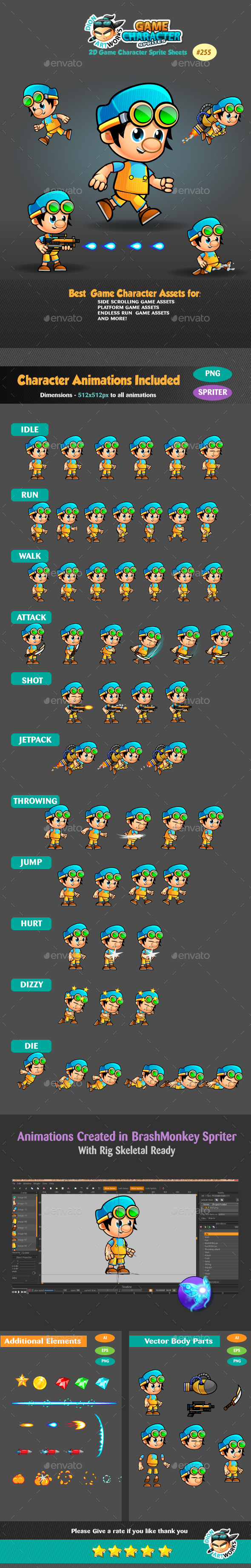 2D Game Character Sprites 255 (Sprites)