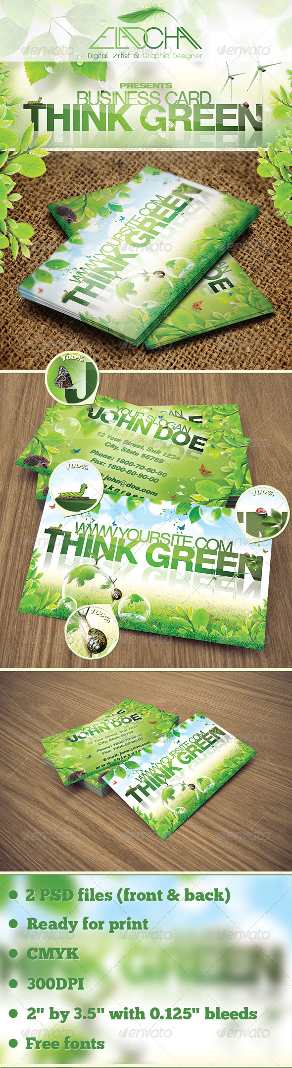 GraphicRiver Think Green Business Card 1771248