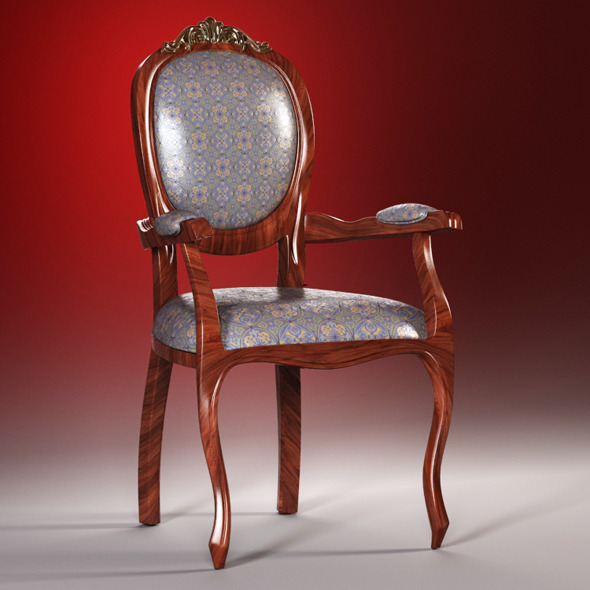3DOcean High quality model of classic chair 1771270