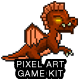 2D Pixel Game Kit 3 of 5 w character sprites & more